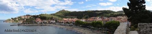Aluminium Prints New Zealand Panoramique : Collioure, pyrénées orientales, roussillon, occitanie, France