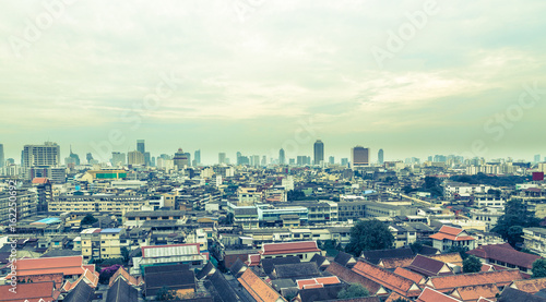 Skyline panorama Bangkok Thailand