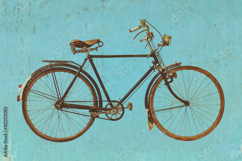Aluminium Prints Bicycle Retro styled image of a vintage bicycle