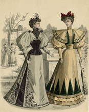 Costume Of 1890s. Date: 1890s