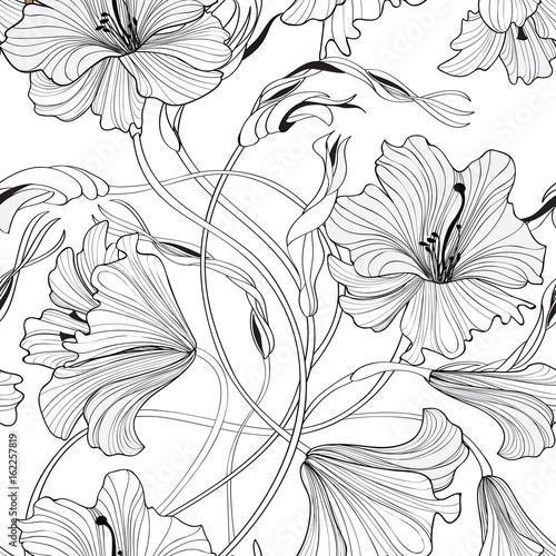 kwiatowy-wzor-lilia