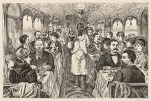 American Dining Car. Date: 1882