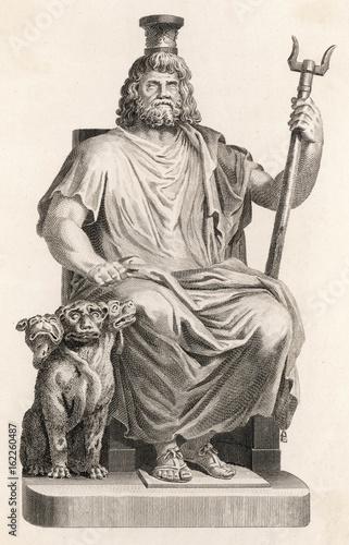 Classical Myth: the god Hades - Dis - Pluto. Canvas Print