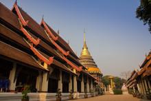 Wat Phra That Lampang Luang. Lanna Architecture Style Temple, Lampang Province Thailand