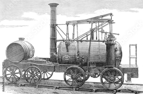 Photo  Puffing Billy  Hedley's improved Wylam engine. Date: 1813