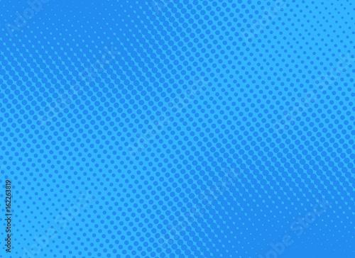 Obraz na plátně  retro comic blue background raster gradient halftone, stock vector illustration