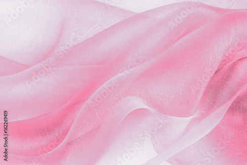 Fotografie, Obraz  organza fabric in pink color