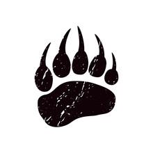 A Trace A Bear. Black Silhouet...