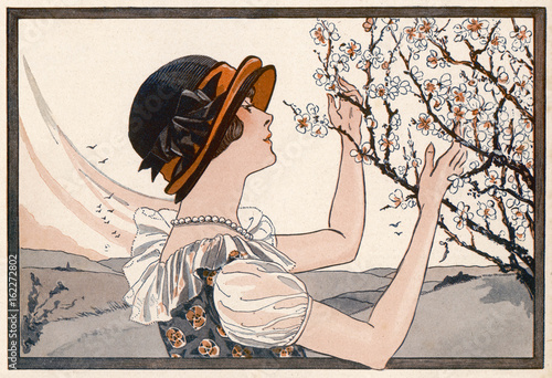 Poster  Lady and Blossom - 1925. Date: 1925