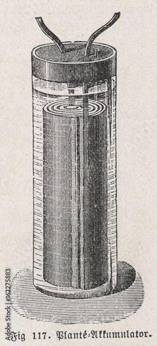 Plante Accumulator. Date: 1859 Poster Mural XXL