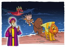 The Prophet Daniel Sees A Vision About The Beasts Coming Up Out Of The Sea