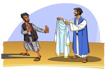 Jesus Offers The White Robe Of Righteousness To The Sinner