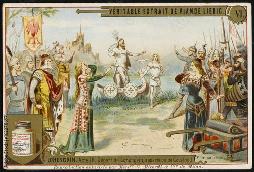 Obraz na plátně  Lohengrin Restores Godf. Date: 1850