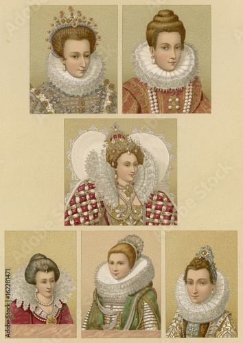 Types of Ruff Late 16th century. Date: late 16th century Canvas Print