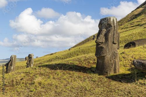 Foto op Aluminium Rudnes Moai statue at Rano Raraku, Easter Island, Chile