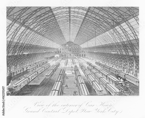 Grand Central Station. Date: 1876 Canvas Print