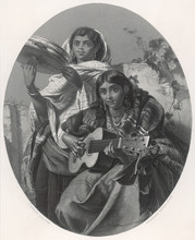 Spanish Gipsy Musicians. Date:...