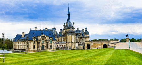 Spoed Fotobehang Kasteel Great castles of France- Chateau de Chantilly
