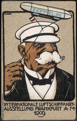 Stampa su Tela Ferdinand Graf von Zeppelin  airship manufacturer. Date: 1909