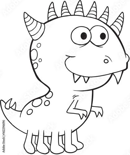 Canvas Prints Cartoon draw Monster Vector Illustration Art