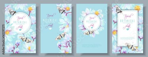 Fotografie, Obraz  Lotus vertical banners set