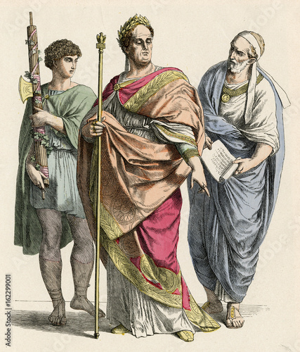 Foto Ancient Romans -- Lictor  Emperor and Nobleman. Date: BCE