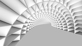 Fototapeta  - Abstract Tunnel 3d Background
