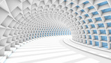 Fototapeta Przestrzenne - Abstract Tunnel 3d Background