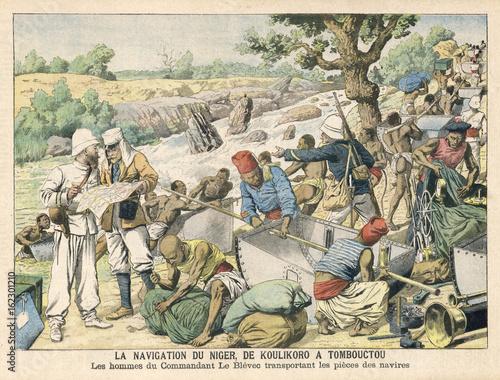Mali - River Niger - 1905. Date: 1905 © Archivist
