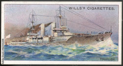 Foto Tsukuba Warship. Date: launched 1905