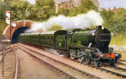 Obraz na płótnie Bournemouth Express. Date: 1926