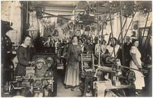 Women Working In Factory. Date: Circa 1914 - 1918