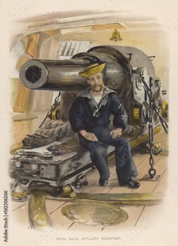 Naval Artilleryman. Date: circa 1890 Canvas Print