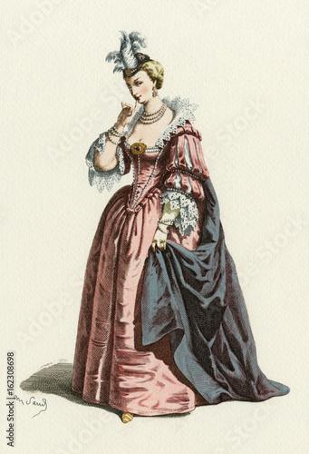 Fotografie, Obraz  Commedia Dell'arte - Isabella. Date: 1600
