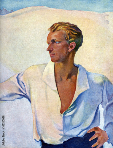 The Aryan Ideal Male. Date: 1915 Canvas Print