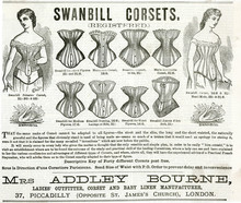 Advert For Swanbill Corsets 1879. Date: 1879