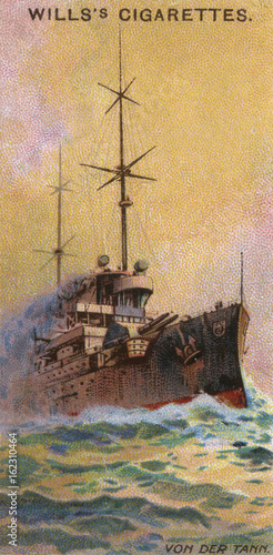 Canvas Von Der Tann Cruiser. Date: launched 1909