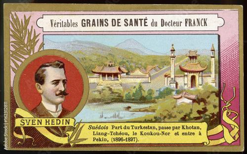 Sven Hedin (Card). Date: 1865 - 1952 Canvas Print