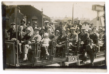 Blackpool Tram Party. Date: 1926