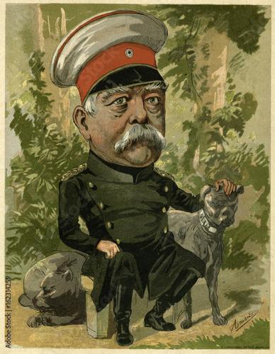 Canvastavla Otto von Bismarck cartoon.