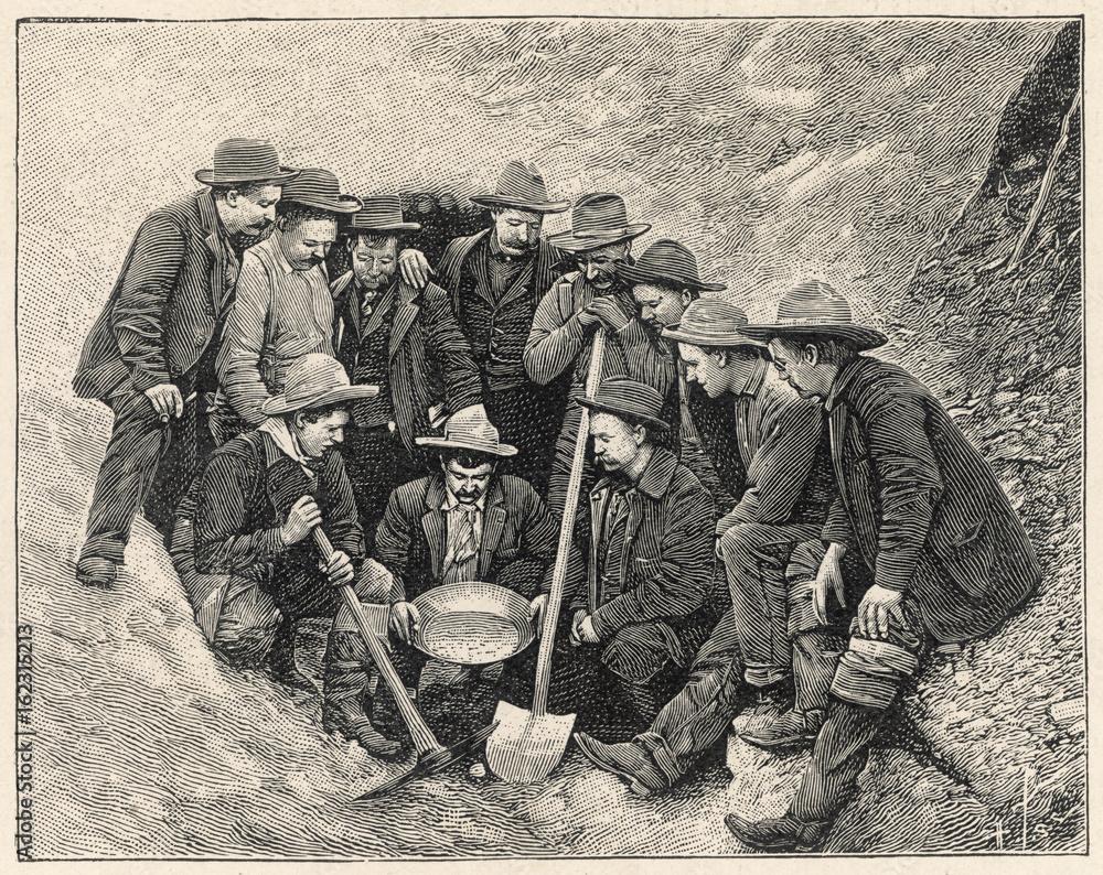 Fototapety, obrazy: Gold Prospectors - Canada. Date: 1904