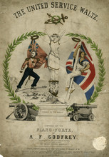 Soldier And Sailor  United Service Waltz Music Cover. Date: 19th Century