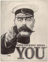 Ww1 - C 1915 - Kitchener Pos. Date: Circa 1915