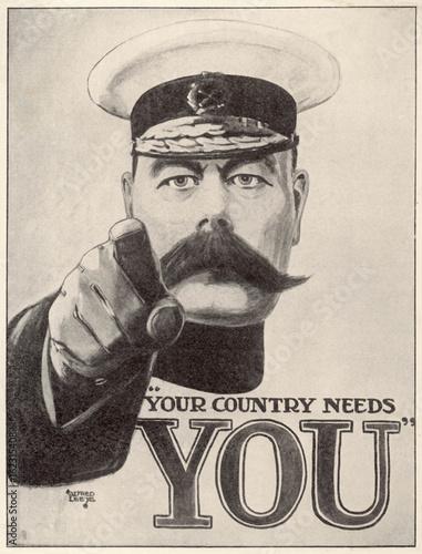Fotografie, Obraz  Ww1 - C 1915 - Kitchener Pos. Date: circa 1915