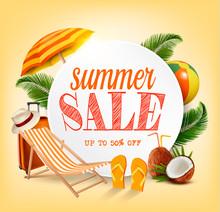Summer Sale Template Vector Ba...