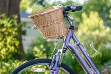 Pretty Bike With Wicker Basket