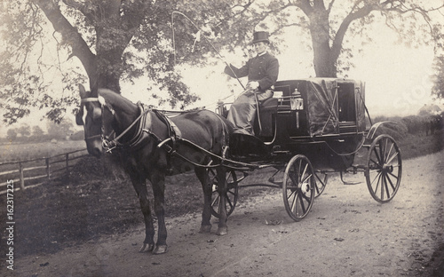 Stampa su Tela Private Carriage Photo. Date: circa 1890s