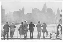 Arriving At New York 1931. Date: 1931