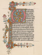 Leinwanddruck Bild - Page from a Book of Hours. Date: 15th century