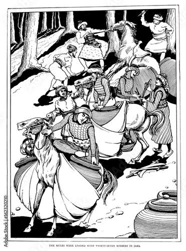 Arabian Nights - Ali Baba. Date: 1899 Wallpaper Mural